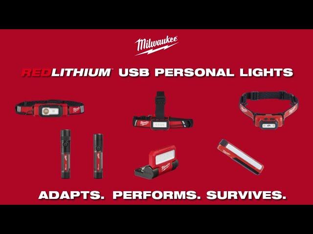 Milwaukee® REDLITHIUM™ USB Personal Lights