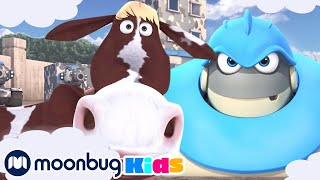 Arpo The Robot - Mission Moo Moo | Moonbug Kids TV Shows - Full Episodes | Cartoons For Kids