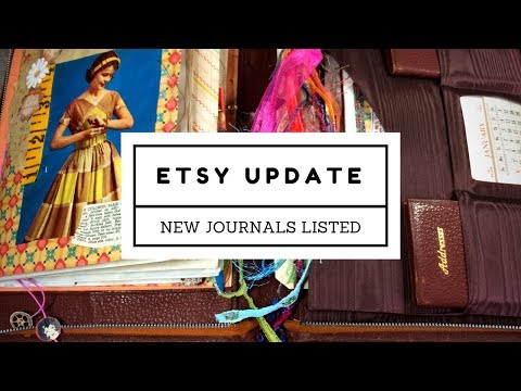 Etsy Update- New Journals Listed