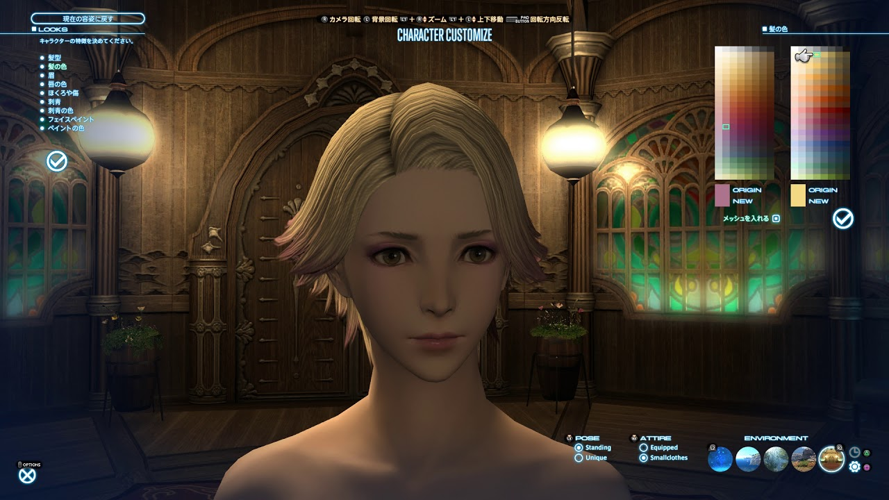 【FF14】4.3 髪型 フェザーヘア 美容師でセットしてみたよん♪
