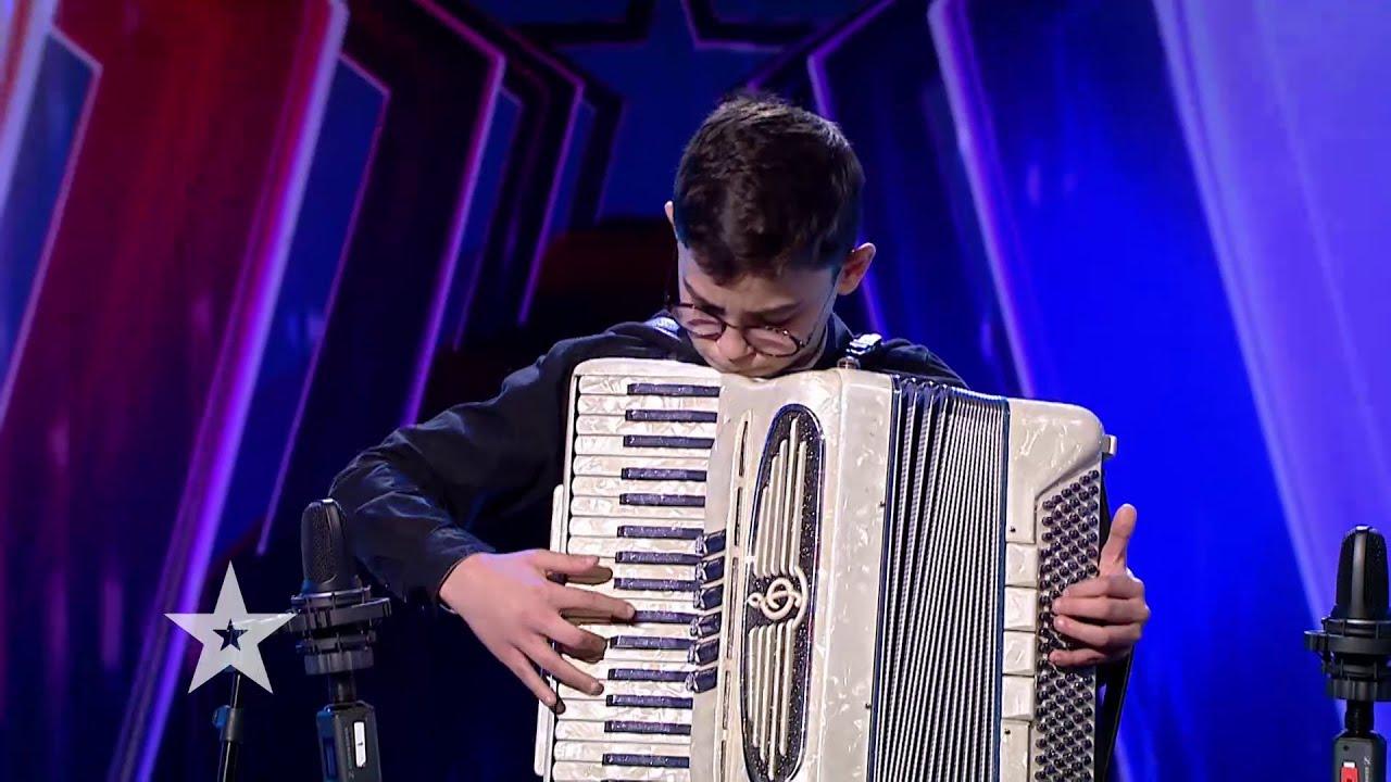 Românii au talent 2021: Yannis Boroș, interpretare impecabilă la acordeon