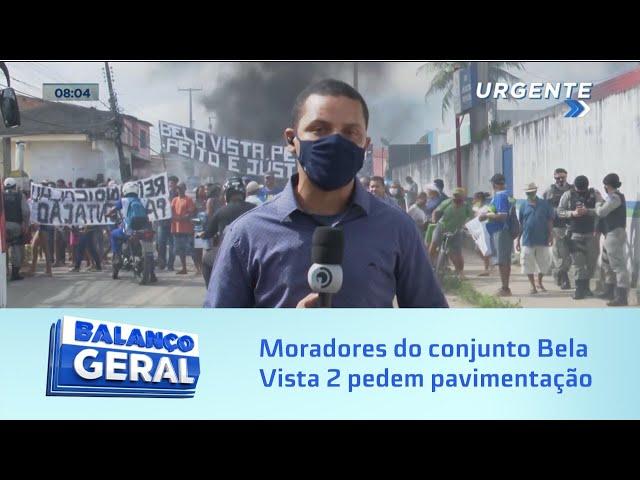 """""""Queremos asfalto"""": moradores do conjunto Bela Vista 2 pedem pavimentação e fecham avenida"""