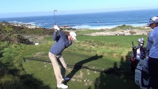 Dustin Johnson 2013 Pebble Beach Pro Am at Spyglass Swingvision and Slow Motion 60fps