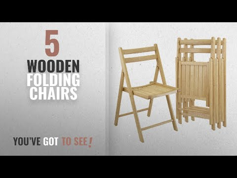 Top 10 Wooden Folding Chairs [2018]: Winsome Wood Folding Chairs, Natural Finish, Set of 4
