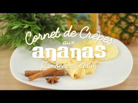 crêpe-aux-ananas-flambée-au-rhum---cuisineaz