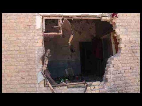 Daños en edificios por el conflicto en la frontera entre Pakistán y Afganistán