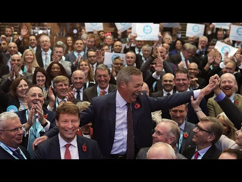 Watch again: Nigel Farage reveals Brexit Party's 600 general election candidates