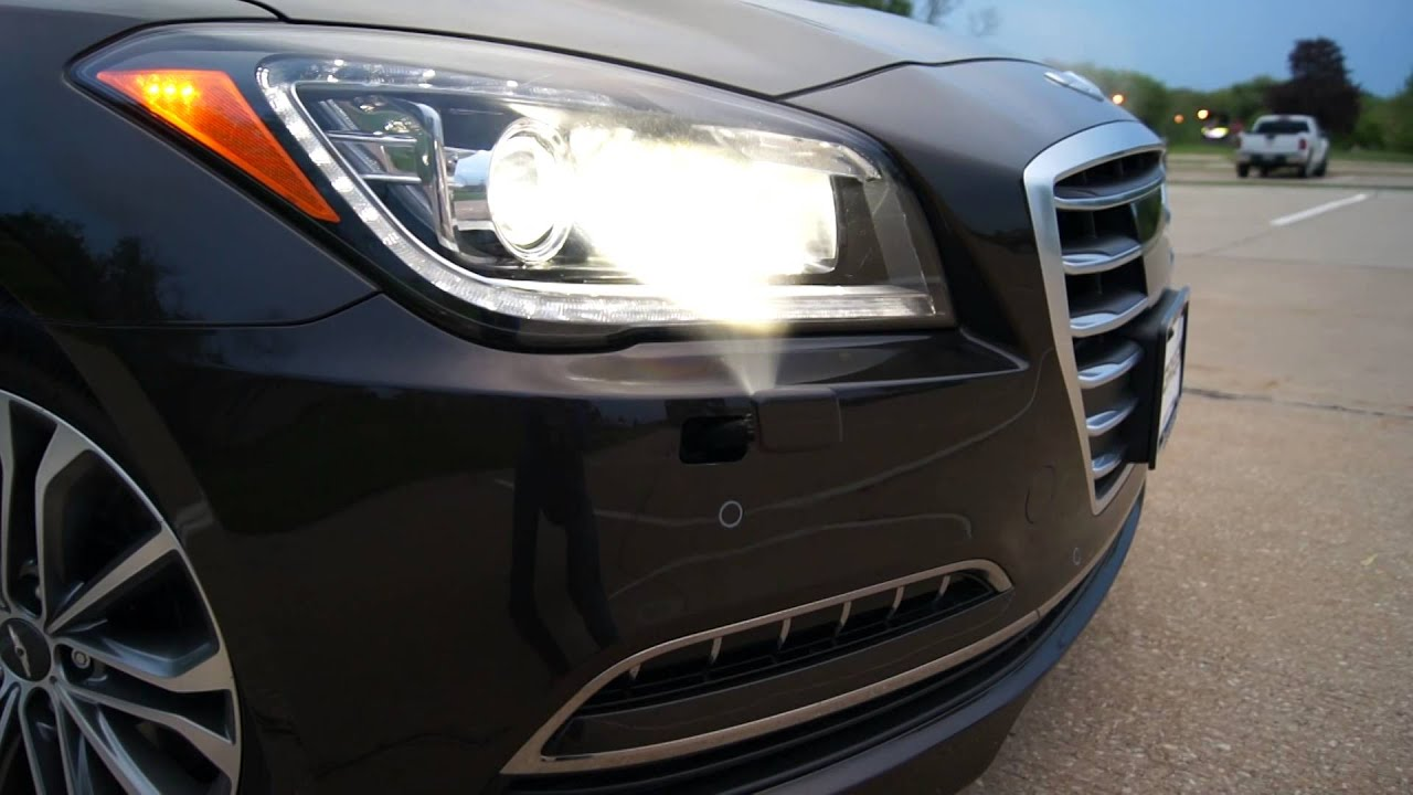 2015 Hyundai Genesis G80 Headlight Washers Demo  YouTube