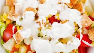 Салат с пекинской капустой и кукурузой. Красивый салат с курицей
