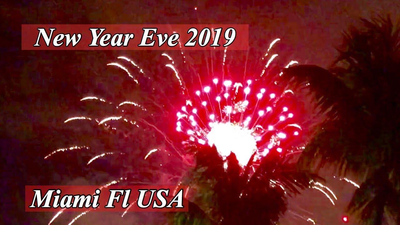 New Year's Eve 2019 Countdown Miami Fl USA