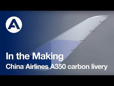 In the making: China Airlines A350 carbon livery