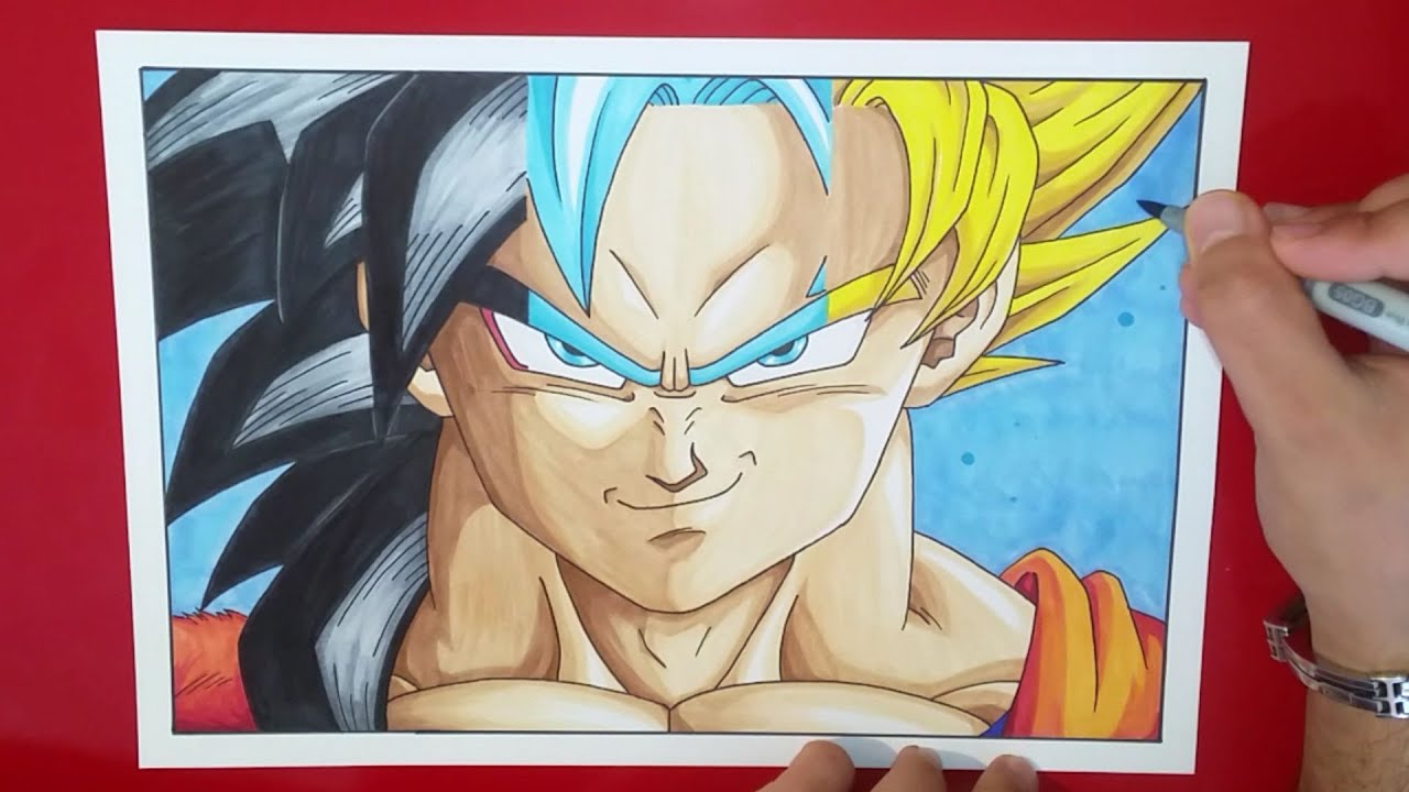 drawing son goku ssj4 ssgss ssj2 tolgart youtube