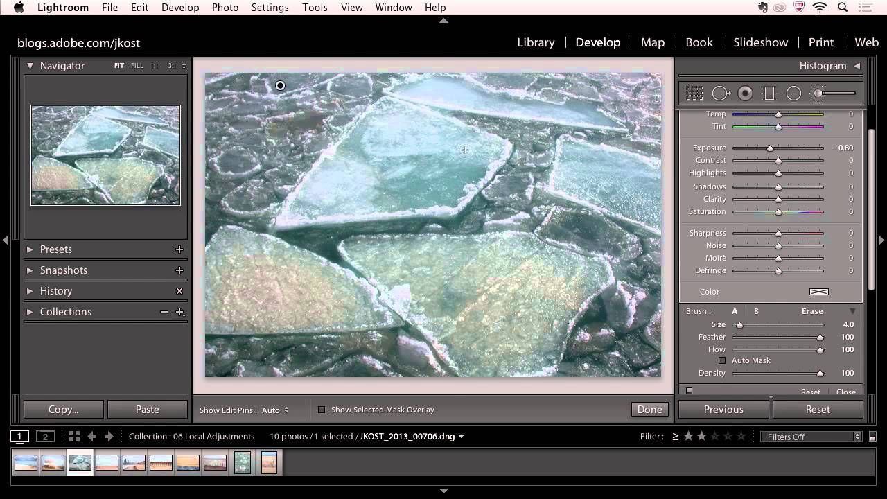 Lightroom 5: Enhancing Isolated Areas of an Image