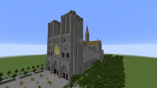 Notre Dame Burning Recreated in Minecraft