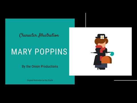 CSS Character Illustration - #03 - Mary Poppins