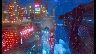 This open-world cyberpunk game looks really unique... introducing 'Cloudpunk'