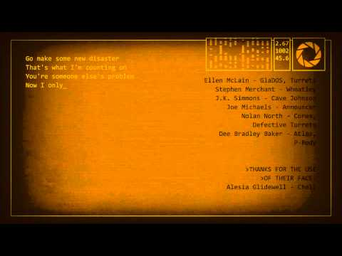 Portal 2 - End Credits Song 'Want You Gone' by Jonathan Coulton