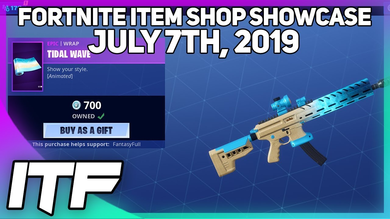 bc37ddbb57f28a Fortnite Item Shop *NEW* ANIMATED TIDAL WAVE WRAP! [July 7th, 2019]  (Fortnite Battle Royale) – Shopping time