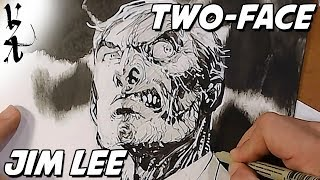 Jim Lee drawing Two-Face