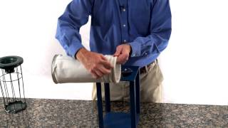 How to Install a Snap Band Dust Collector Filter Bag