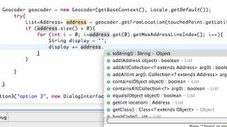 Android Application Development Tutorial  137  Geocoding a Location for an Address
