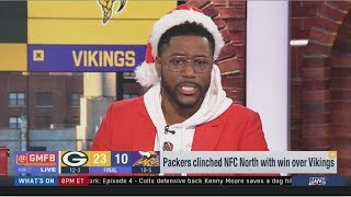 Nate Burleson reacts to Packers run over Vikings to clinch NFC North