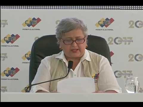 Tibisay Lucena: 100% de electores podrán votar en otro centro de su municipio si fuera necesario