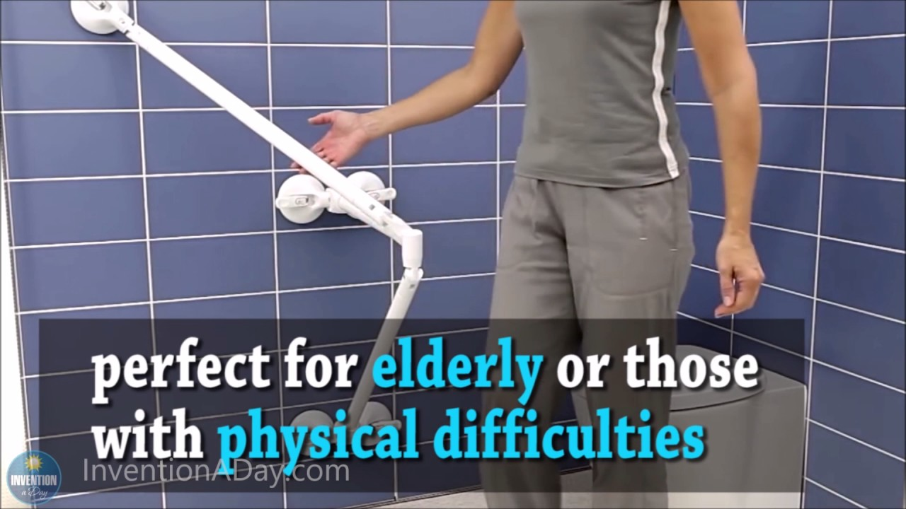 Shower Grab Bars For The Elderly invention a day - episode #116: the portable grab bar - youtube