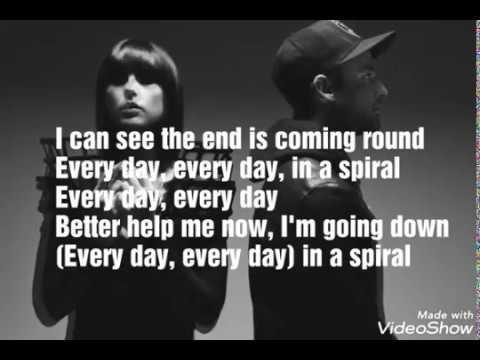 Phantogram - In A Spiral | Lyrics | (Lyric Video)