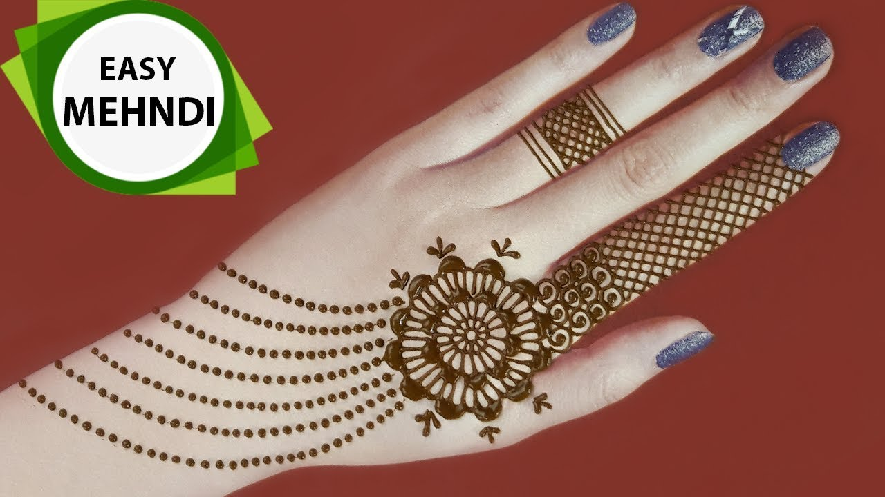 Very Easy Mehndi Designs For Hands