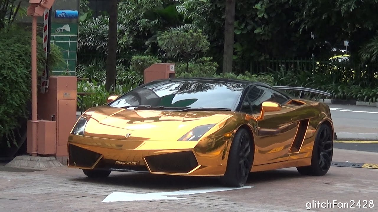 Perfect Gold Chrome Lamborghini Gallardo LP560 Arrival