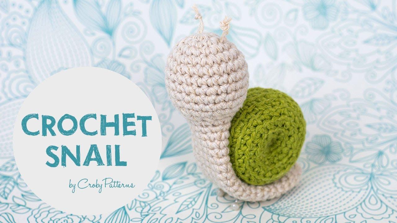 easy crochet tutorial how to make an amigurumi snail [ 1280 x 720 Pixel ]