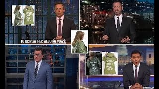Late night show hosts eviscerate Melania for her tone deaf jacket - 247 news