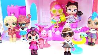 Куклы Лол Сюрприз Мультик! Блестящие Lol Surprise Glam Glitter на Школьном концерте с Шопкинс!