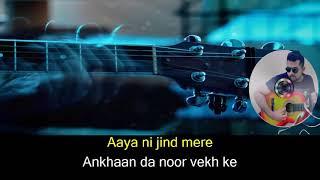 Paani Da karaoke with lyrics