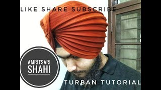 How to tie 3D Amritsari Shahi turban pagg with full detail TUTORIALS BY DIDAR SINGH