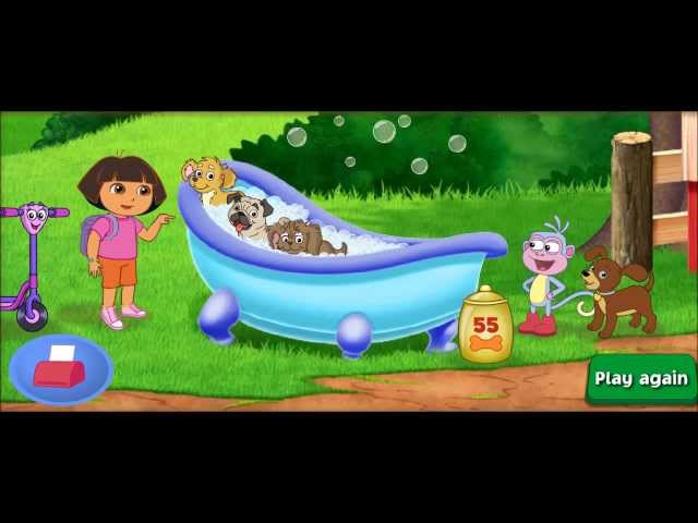 Dora the Explorer HD - Find Those Puppies (New Movie episode) Gameplay Travel Video