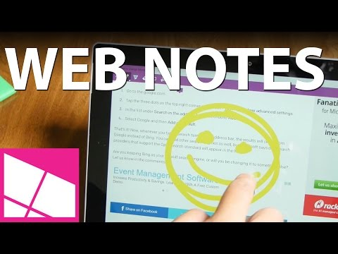 How to use Web Notes on Microsoft Edge - YouTube