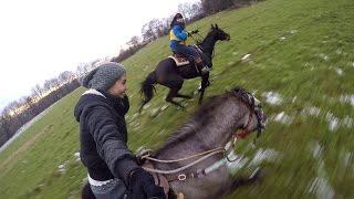 SAIL , Epic fast horse gallop ( GoPro Hero 4 black )