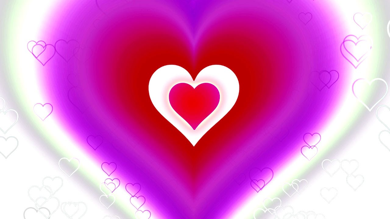 valentine's day/love background - pink, purple, red & white hearts