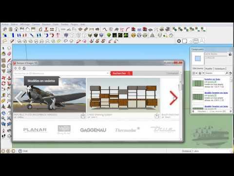 Tuto google sketchup ins rer un composant partir du for Architecte 3d ou sketchup