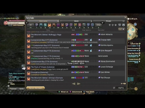 Best Bard of Eorzea Goes Back to the Farm Parties - Final Fantasy XIV [Jenova]