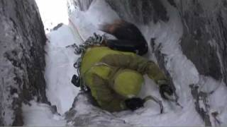 Dave MacLeod and Andy Turner climb Great Chimney on Ben Nevis