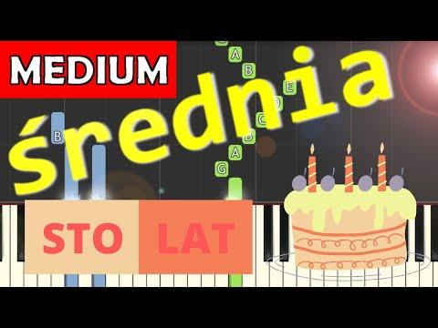 🎹 Sto lat - Piano Tutorial (średnia wersja) 🎹