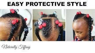 Maiah's Quick Protective Crochet Style!   Kids Natural Hair Care