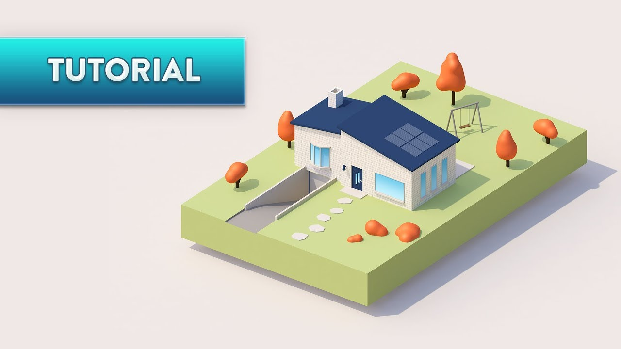 Beau C4D TUTORIAL | Simple Cute House (Ultra Beginner)