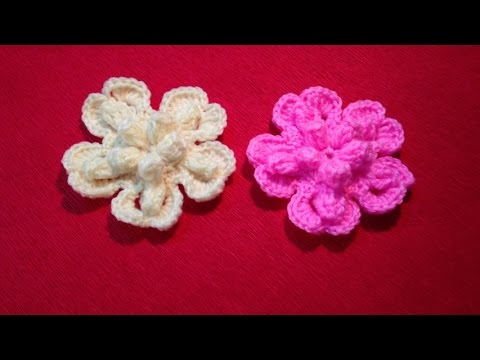 Hướng dẫn móc hoa len - Móc hoa lan 5 cánh