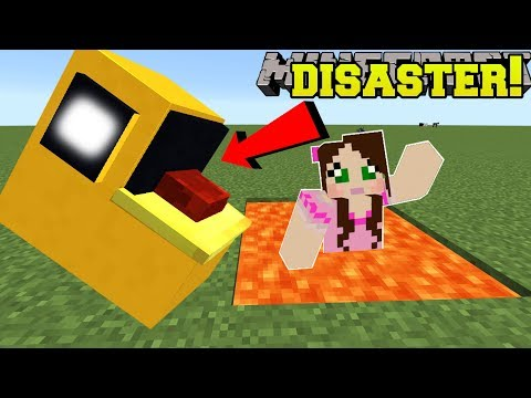 Minecraft: SURVIVE THE PACMAN DISASTERS!! (EATEN BY PACMAN & EXPLOSIVE FRUIT!) - Mini-Game