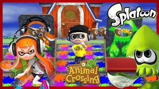 Animal Crossing New Leaf WA | Minijuegos Splatoon con Adrián, Noah y Pernil