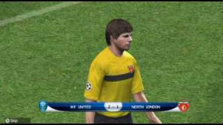 Pro Evolution Soccer 2010 Wii UEFA Champions League Gameplay - Knock Out Stage Match1 Home (2nd Leg)